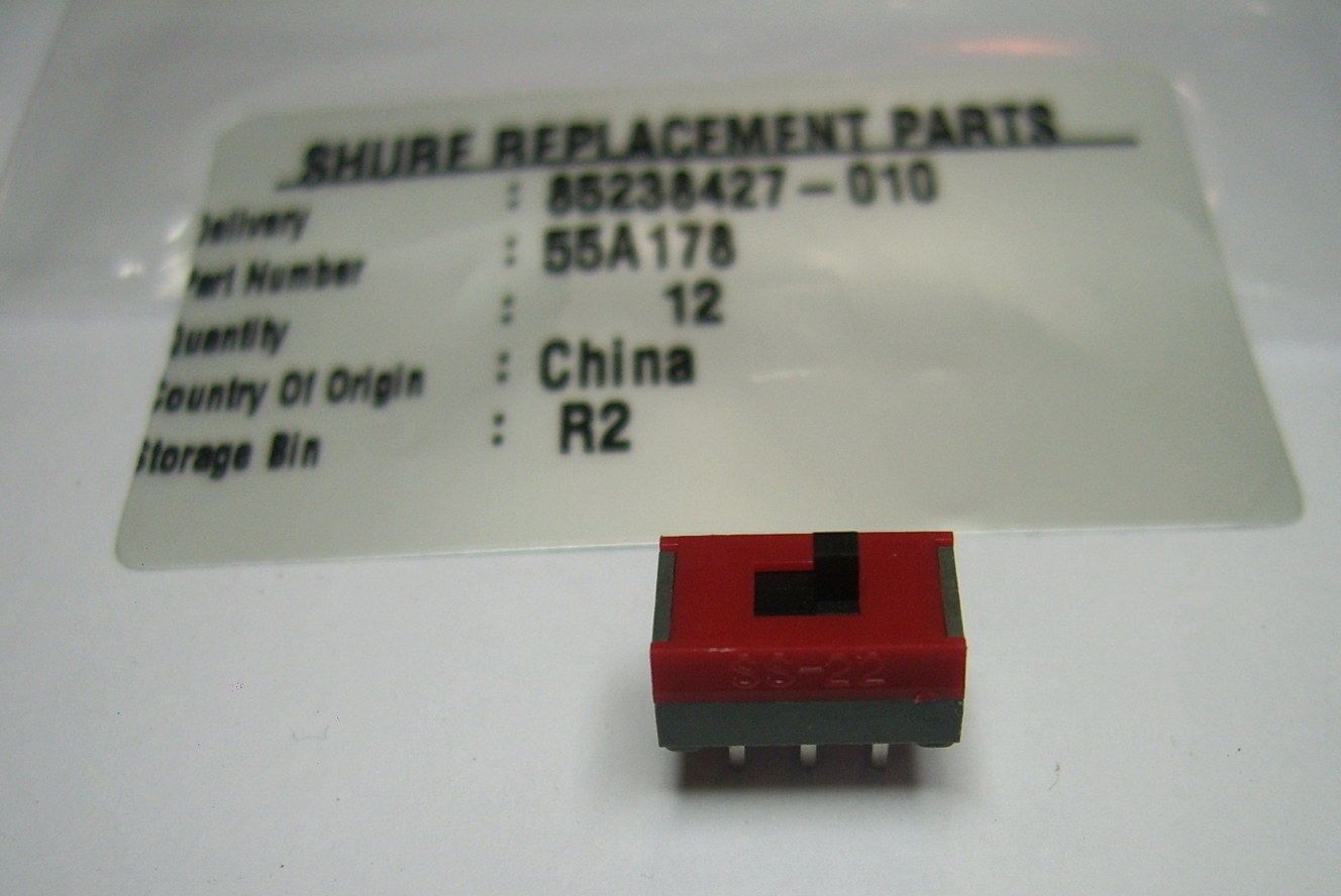 Interrupteur Switch Slide pour micro Shure SM58