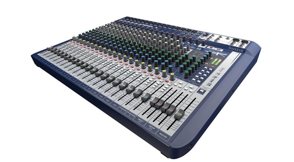 Table de mixage soundcraft signature 22 effet lexicon 22 voies