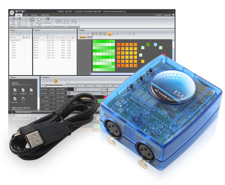 Module de controle autonome DMX SLESA_UE7 EASY STAND ALONE USB et Ethernet