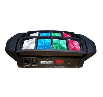 Effet Led Power Lighting SPIDER POCKET 8x3W RGB (2xRouge, 2xVert, 2xBleu, et 2xBlanc)