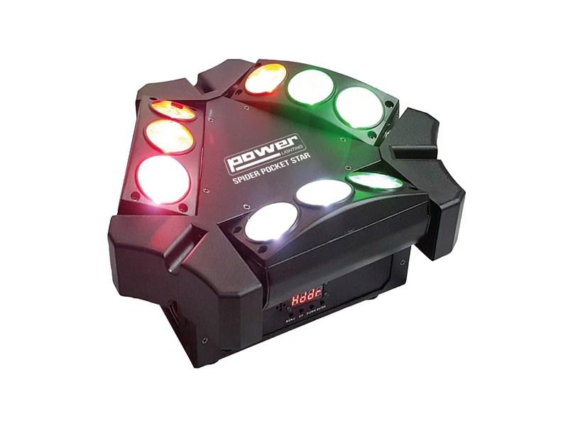 Effet Beam led Power lighting Spider pocket star 9 X 3W