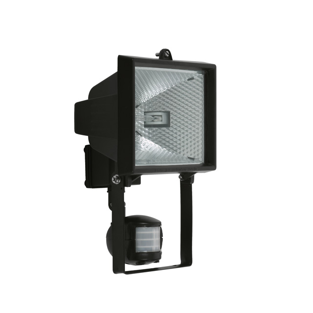 projecteur exterieur 500w rectangle noir avec d tecteur de. Black Bedroom Furniture Sets. Home Design Ideas