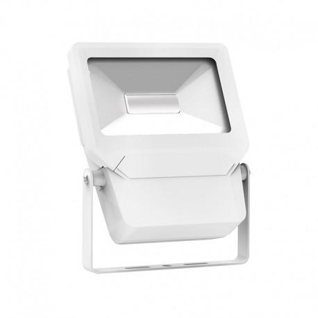 Projecteur led IP65 Plat 30W blanc jour  châssis blanc
