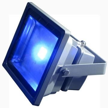 projecteur ext rieur led 50w bleu ip65 chassis gris spot. Black Bedroom Furniture Sets. Home Design Ideas