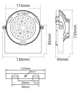 Spot led étanche IP65 RGB et blanc compatible télécommande 4 Zones