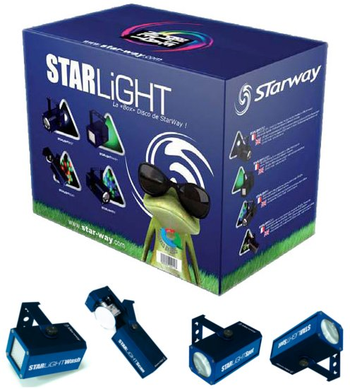 Starlight la box de starway 4 effets à Led dans un pack