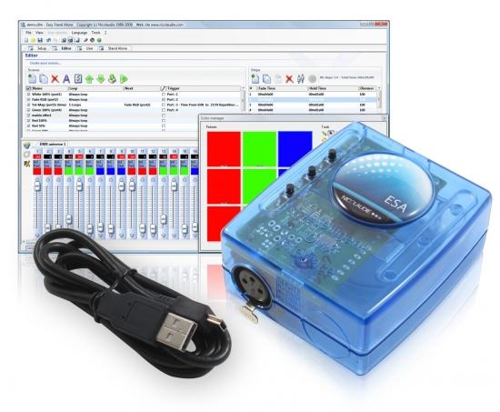 Module de controle autonome DMX Sunlite SLESA-U8 EASY STAND ALONE USB 2010