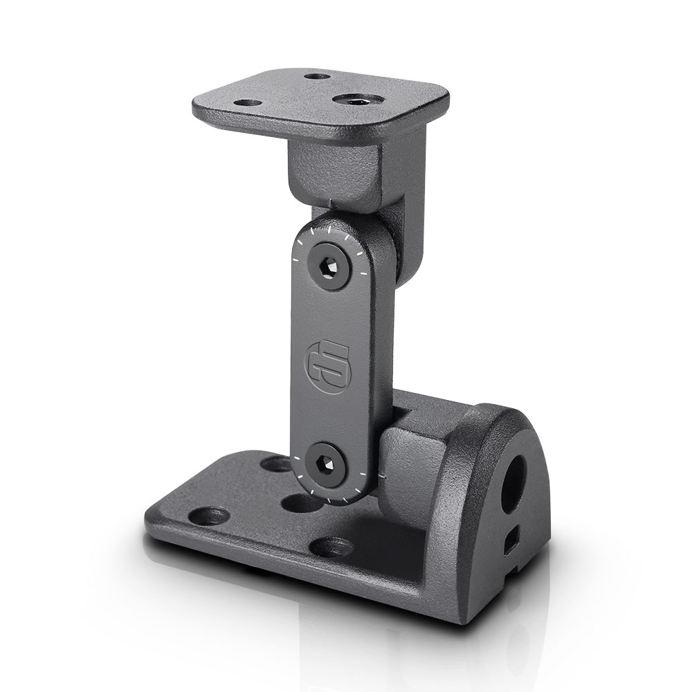 3 X Noir Mat 35mm rideau Pole supports muraux W sécurisé 2 TROUS FIXATION PLAQUE