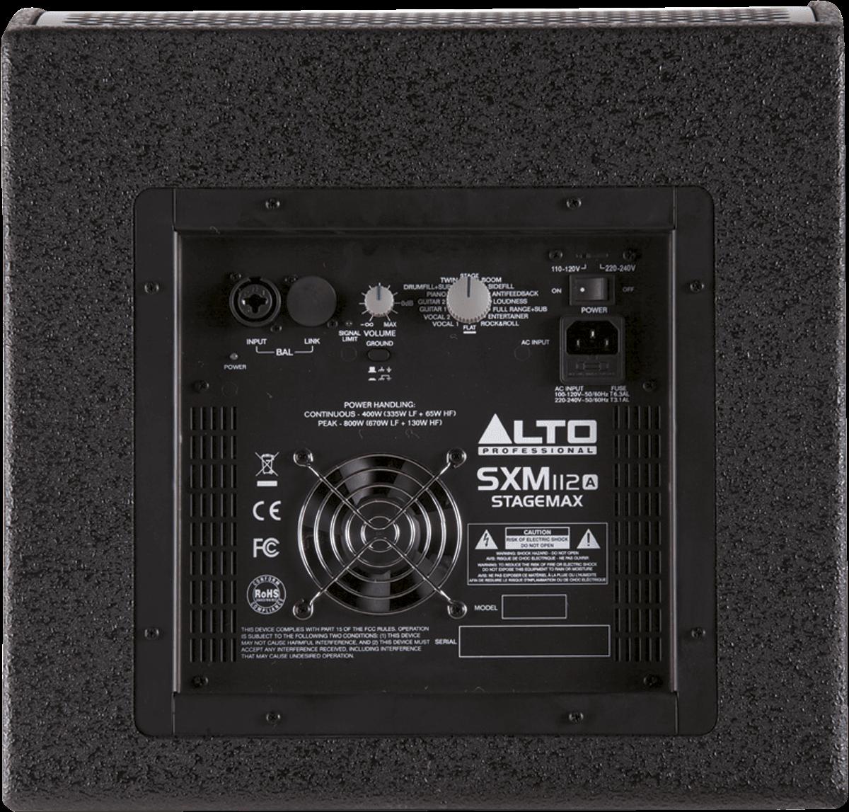 Retour bain de pied ALTO SXM112A Bi amplifié 12p 400W