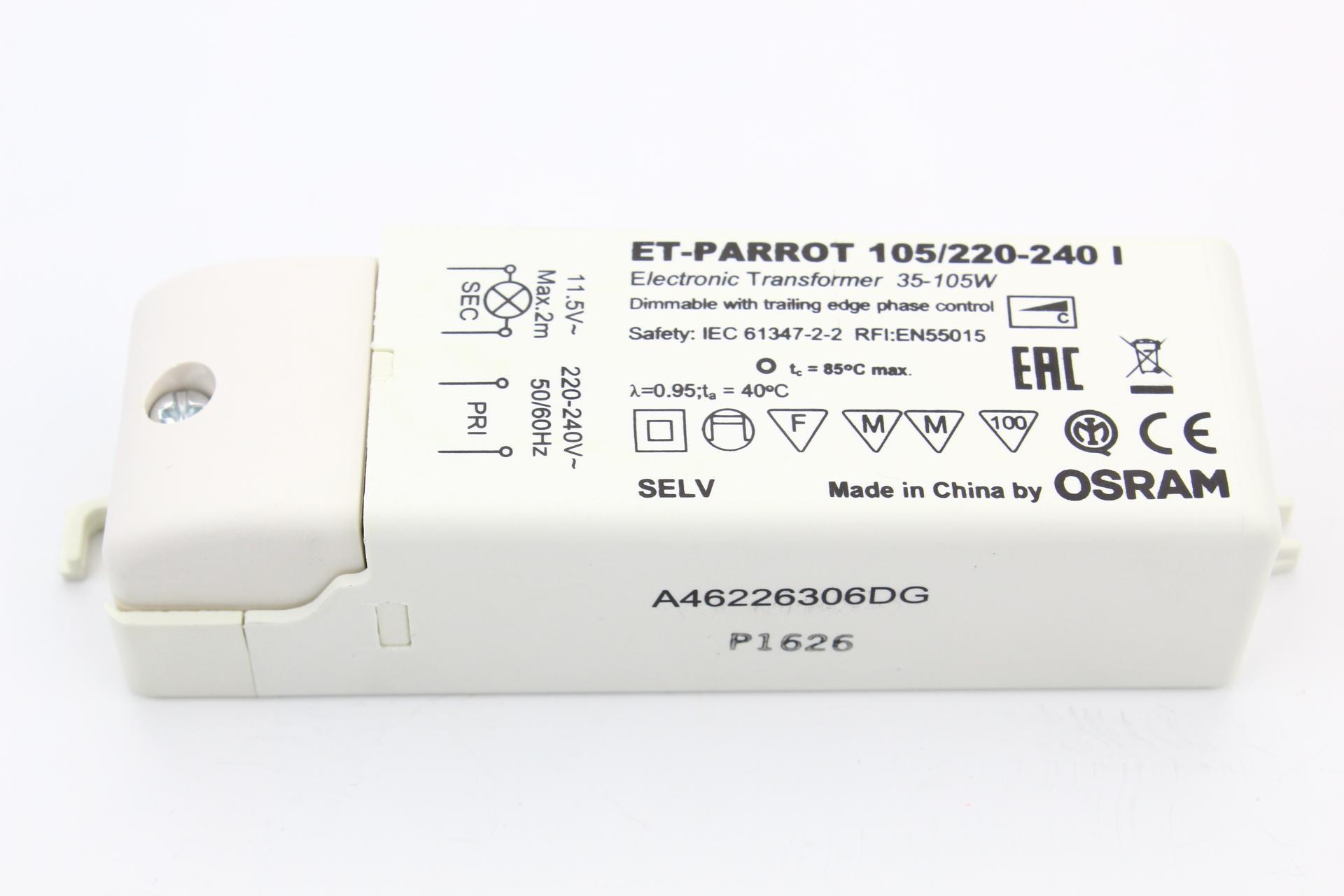 Transfo Spécial Halogène 12V 105 VA