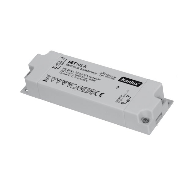 Transfo Spécial Halogène blanc 12V 105 VA miniature