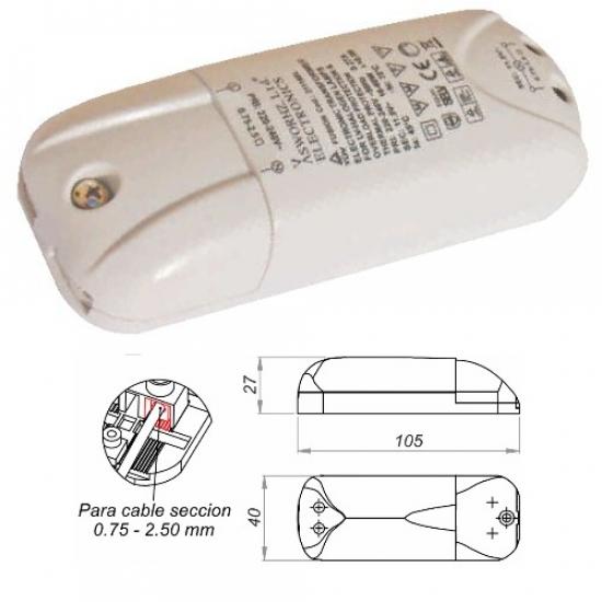 Transformateur Spécial Halogène 12V 60W graduable