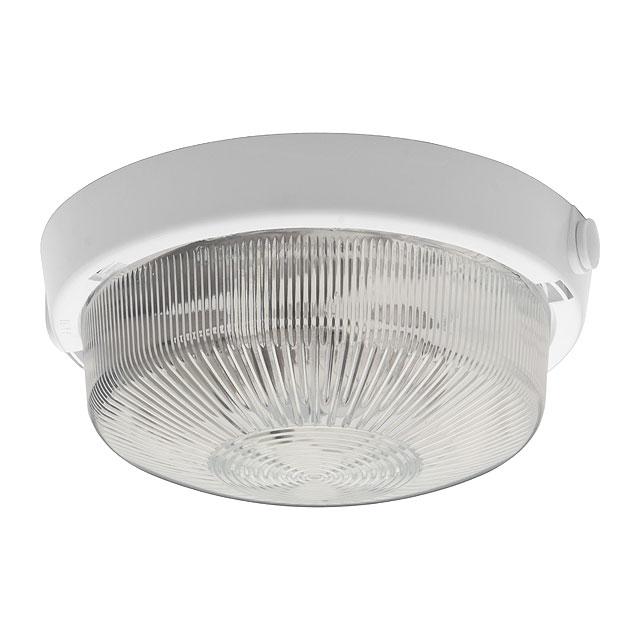 Hublot blanc étanche avec globe verre douille E27 100W max