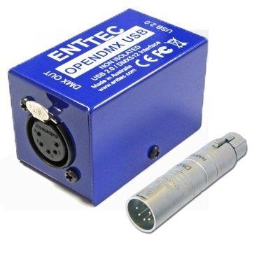 Interface ENTTEC Open DMX USB vers DMX512 avec adaptateur
