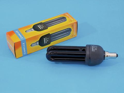 livraison gratuite lampe uv lumi re noire fluocompacte co 230v 11w e14 ampoules blb 230v prozic. Black Bedroom Furniture Sets. Home Design Ideas
