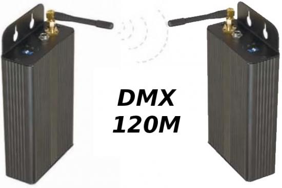 DMX sans fil émetteur + récepteur 900Mhz wireless Portée 150m