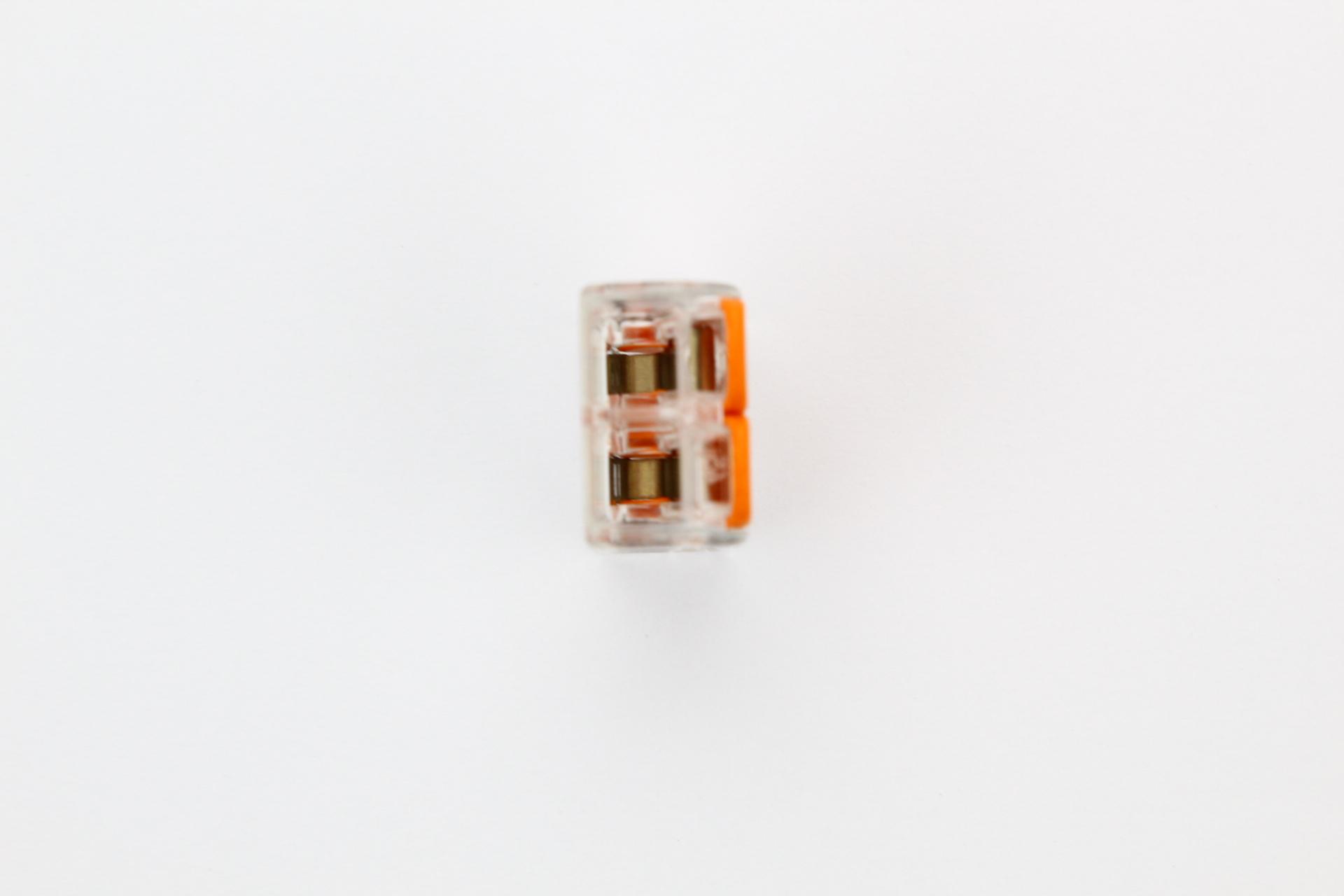 livraison gratuite connecteur wago levier 2x. Black Bedroom Furniture Sets. Home Design Ideas