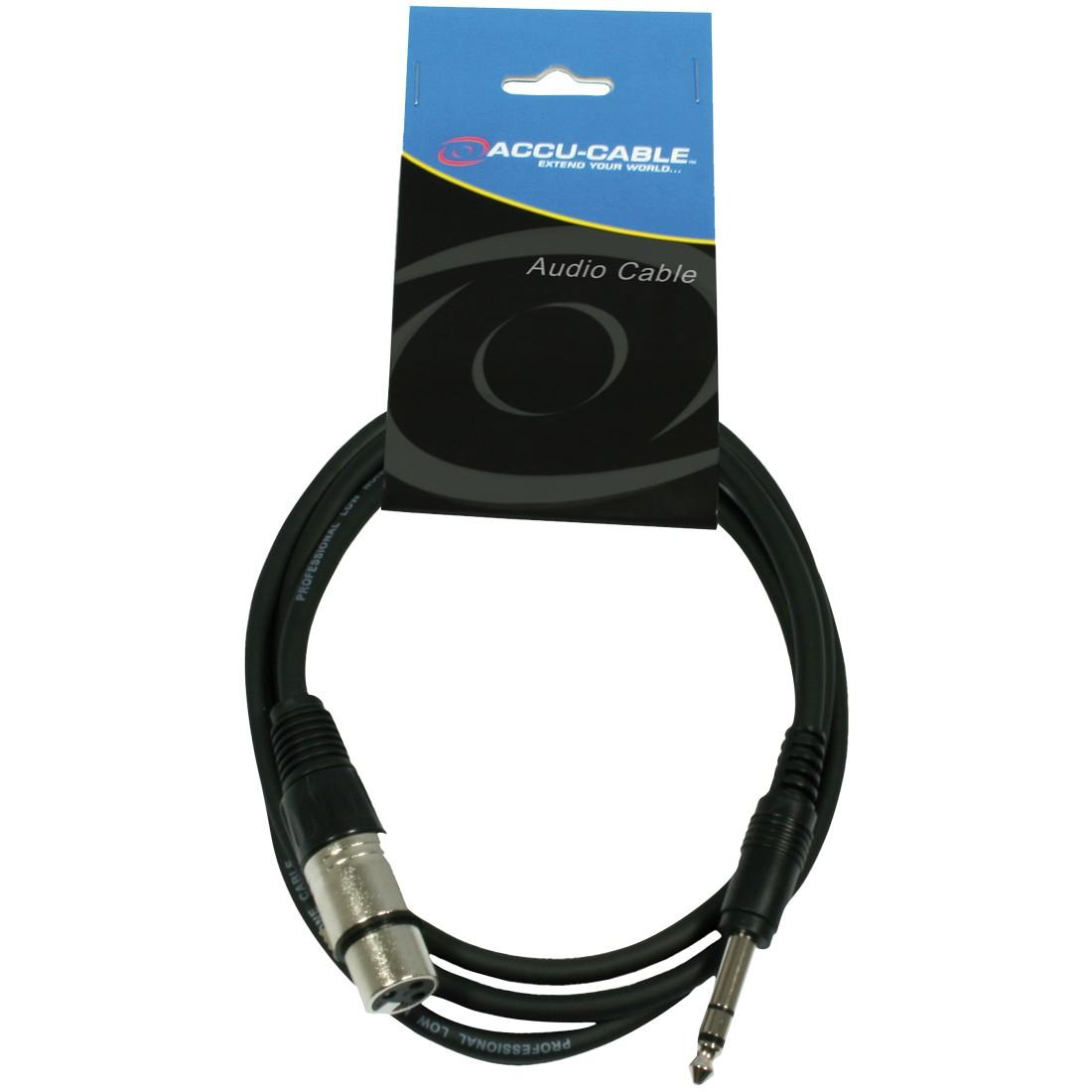 cable XLR 3 broches Femelle vers JACK 6.35 mâle symetrique 1m5 noir