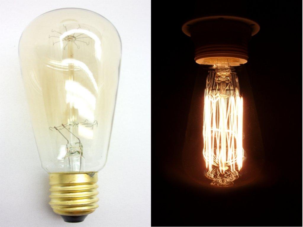 livraison gratuite ampoule e27 230v 60w dor e filament carbone lampes d co prozic. Black Bedroom Furniture Sets. Home Design Ideas