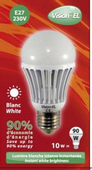 Ampoule à led Blanche E27 10W 230V Blanc jour 6400K