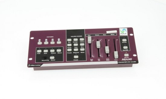 Console de contrôle de LED DMX MIAMI 4 groupes