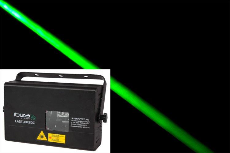 Laser Ibiza tube vert 80mW beam DMX