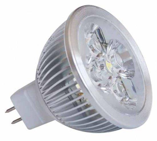 MR16 à 4 LED 4X1W blanc lumiere du jour 6400K 12v version graduable