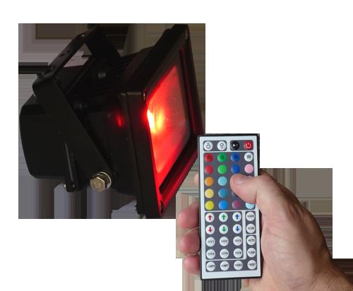 Livraison gratuite projecteur exterieur rgb led 10w - Spot led telecommande ...