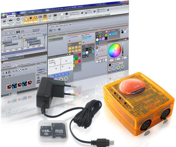 Sunlite suite 2 First class + Interface usb DMX et Logiciel de controle DMX512