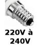 Lampes E14 230V