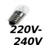 Lampes E10 230V