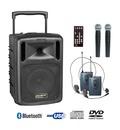 Sonorisation portable sur batterie Power acoustics BE 9610 PT ABS 2 micro + 2 HF