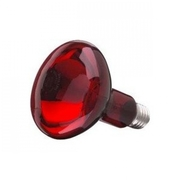 LAMPE infrarouge E27 Sylvania IR 95mm IR 230V 100W Filtre rouge RUBY