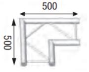 Angle de structure échelle ASD AEX 22, 90 degré