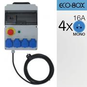 Alimentation ECO-BOX 16A 4xPC16 différentiel, Arrêt d'urgence norme française