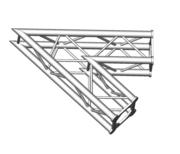 Structure alu ASD SC250 carrée angle 45° 2 départs ASC2520