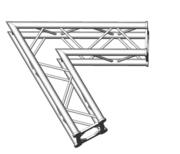 Structure alu ASD SC250 carrée angle 60° 2 départs ASC2521