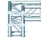 Structure alu ASD SC250 carrée angle 90° 3 départs ASC2531