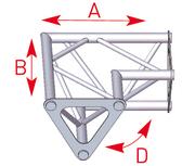 ASD ASD1522 Angle Triangle 2 départs 90° horizontal de 0,25