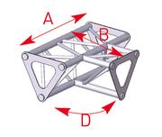 Structure ASD Triangle Angle 3 départs à plat 90° de 0,35 x 0,25 m