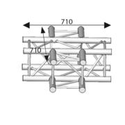 Structure carrée ASD ASZ 41 angle 4 départs 90° 290mm