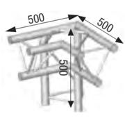 structure alu ASD angle 3 départs à 90° pied gauche SX290 triangulaire ASD ASX31