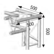 structure alu ASD angle 3 départs à 90° pied gauche SX290 triangulaire ASD ASX32