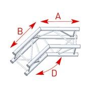structure carrée ASD ASZ 25 M angle 2 départs 135° 290mm