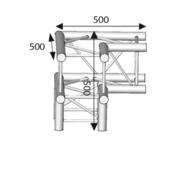 Angle 3 départs 3D type pied structure carrée ASD ASZ 31 angle 290mm