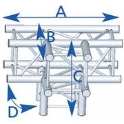 structure carrée ASD ASZ 42  4 départs 90° 290mm