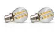 Lot de 2 lampes B22 sphérique led filament 3W 2700K