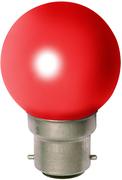 Ampoule sphérique B22 230V 15W rouge opale
