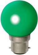 Ampoule sphérique B22 230V 15W verte opale