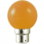Ampoule sphérique B22 230V LED 0,8W ORANGE